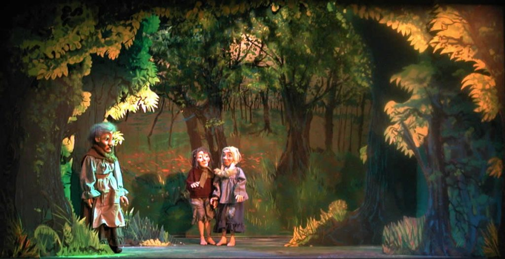 The mother says that Hansel and Gretel must stay in the woods until she returns