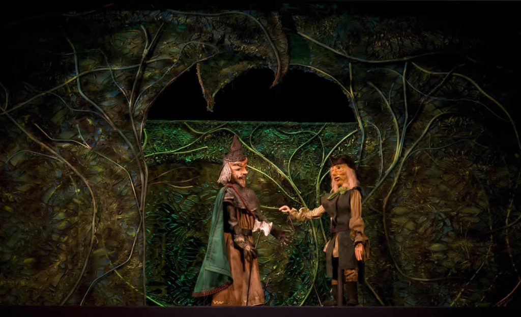 The knight and the woodcutter outside the forest